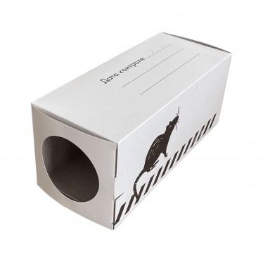 Контейнер картонный для крыс БЕЛЫЙ